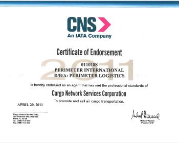 PGL's IATA certificate