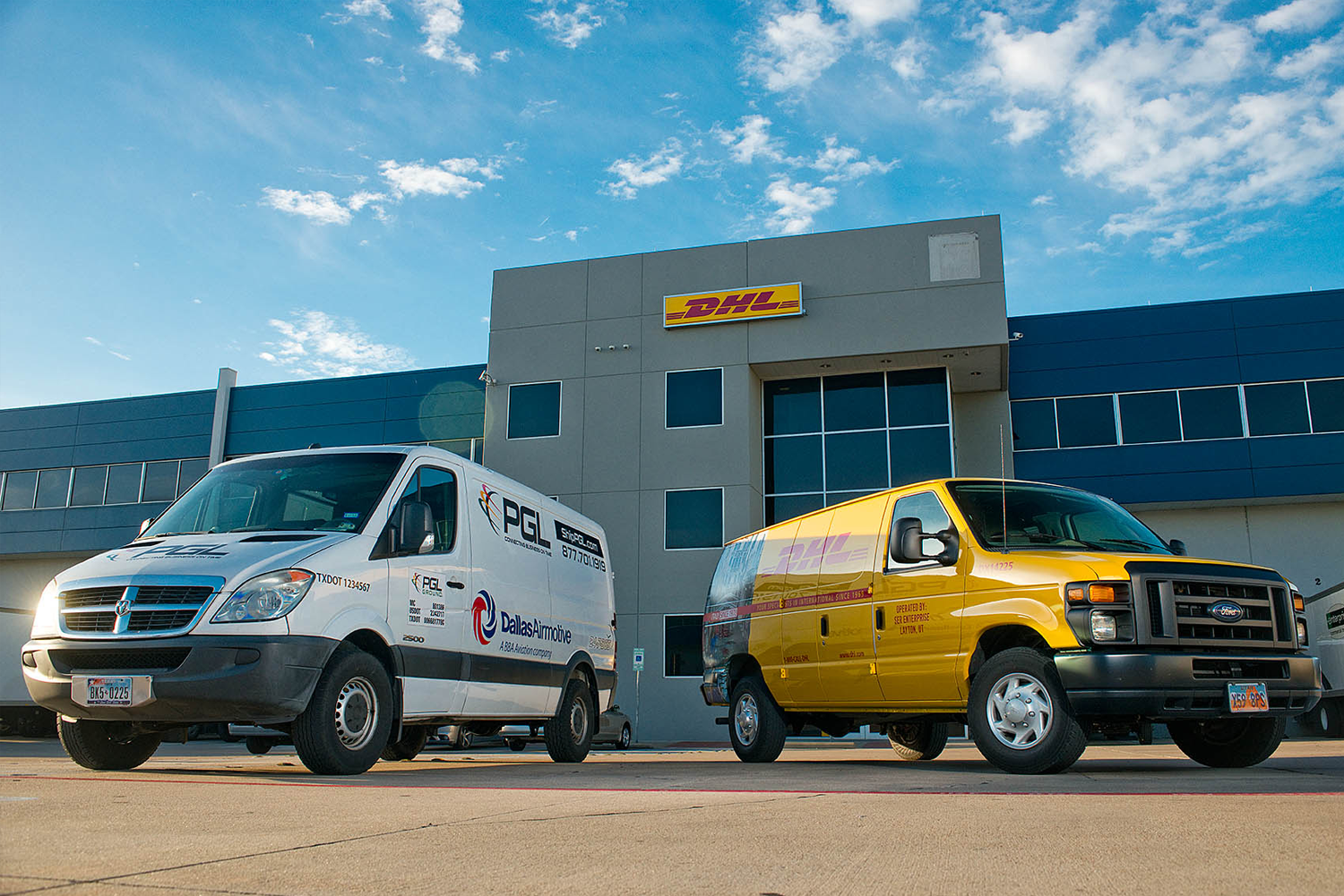 PGL & DHL Vans Together